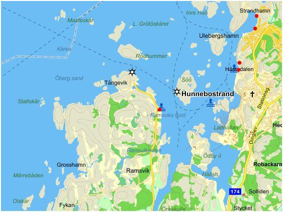 hunnebostrand karta Isättningsplatser Hunnebostrand   Kajakrapporten hunnebostrand karta