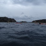 Paddlare vid ön Hättan