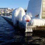 Isig brygga bohuslän isskulptur